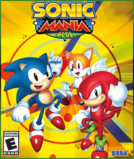 Link. Boxart for Sonic Mania Plus that links to the game page.